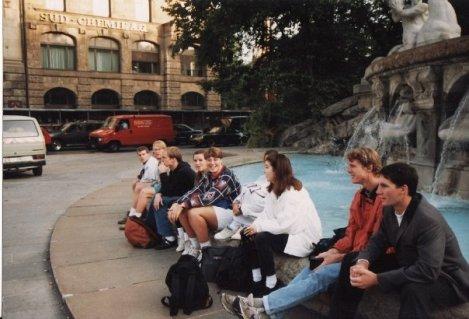 Salzburg travels at the fountain